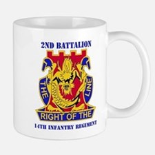 DUI - 2nd Bn - 14th Infantry Regt with Text Small Small Mug