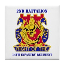 DUI - 2nd Bn - 14th Infantry Regt with Text Tile C