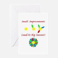 Improvements Success Greeting Card