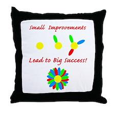 Improvements Success Throw Pillow