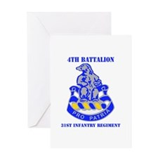 DUI - 4th Bn - 31st Infantry Regt with Text Greeti
