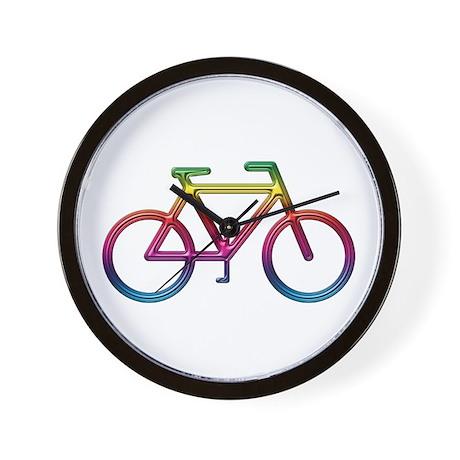 """Rainbow Bike"" Wall Clock"
