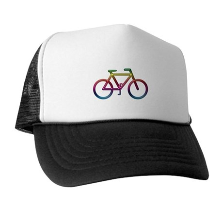 """""""Rainbow Bike"""" Trucker Hat"""