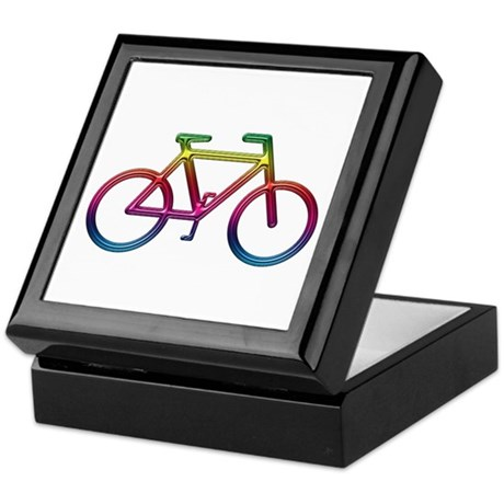 """Rainbow Bike"" Keepsake Box"