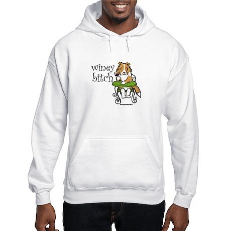 Winey Bitch Sheltie Hooded Sweatshirt