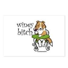 Winey Bitch Sheltie Postcards (Package of 8)