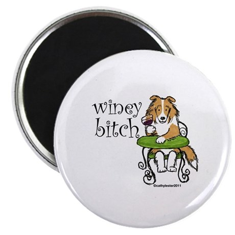 "Winey Bitch Sheltie 2.25"" Magnet (10 pack)"