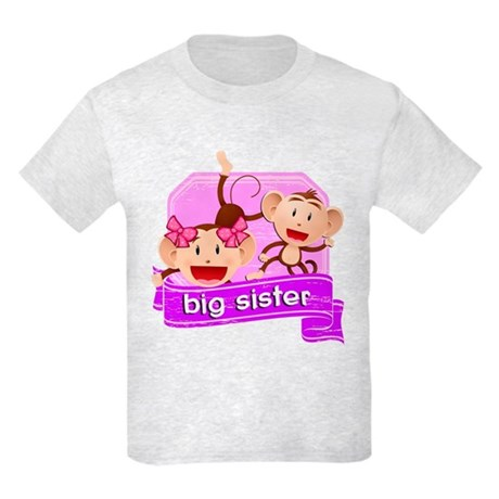 Big Sister Monkey Kids Light T-Shirt