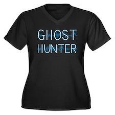 Unique Ghost hunter Women's Plus Size V-Neck Dark T-Shirt