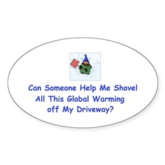 Shovel global Warming Decal