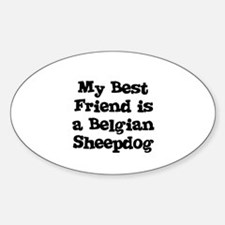 My Best Friend is a Belgian S Oval Decal