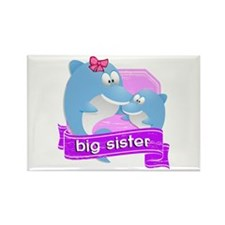 Big Sister Dolphin Rectangle Magnet