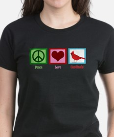 Peace Love Cardinals Tee