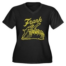 frank the Women's Plus Size V-Neck Dark T-Shirt