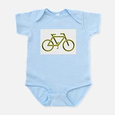 """Gold Bike"" Infant Creeper"