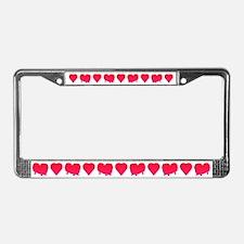 Pekingese License Plate Frame