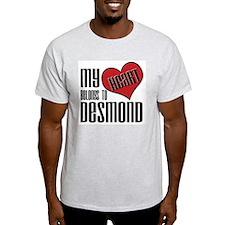 Heart Belongs To Desmond Ash Grey T-Shirt