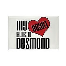 Heart Belongs To Desmond Rectangle Magnet