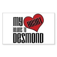 Heart Belongs To Desmond Sticker (Rectangular)
