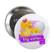 "Big Sister Duckling 2.25"" Button"