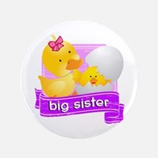 "Big Sister Duckling 3.5"" Button"