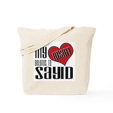 Heart Belongs To Sayid Tote Bag