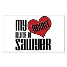 Heart Belongs To Sawyer Sticker (Rectangular)