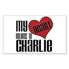 Heart Belong To Charlie Sticker (Rectangular)