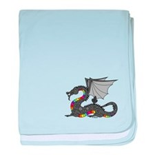 Angry Rainow Dragon baby blanket