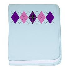 Purple Plaid Argyle baby blanket