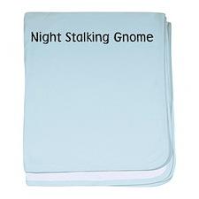 Night Stalking Gnome baby blanket