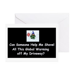 Shovel global Warming Greeting Cards (Pk of 10)