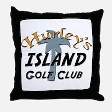 Island Golf Club Throw Pillow