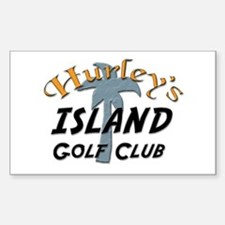Island Golf Club Sticker (Rectangular)