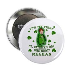 "Customize This St. Pat's Birthday 2.25"" Button"