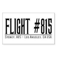 Flight #815 Syd-LA Sticker (Rectangular)