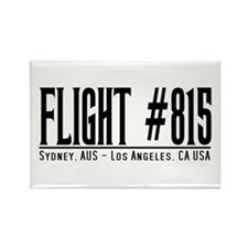 Flight #815 Syd-LA Rectangle Magnet