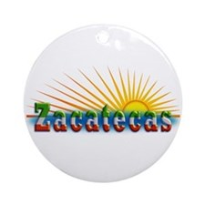 Zacatecas Sol Ornament (Round)