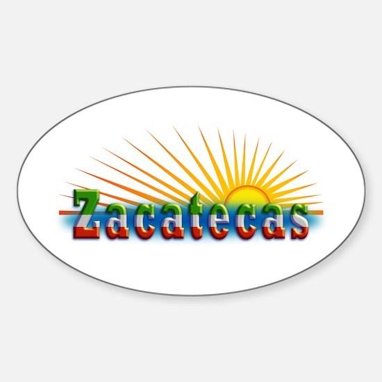 Zacatecas Sol Sticker (Oval)
