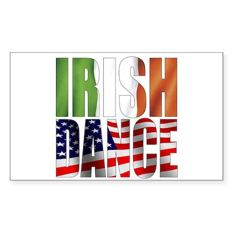 Dance Flags Sticker (Rectangle)