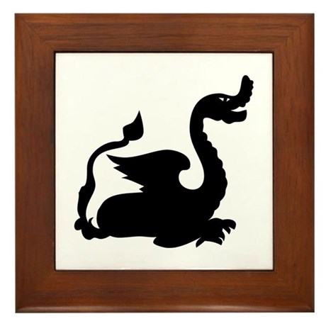 Winged Dragon Framed Tile
