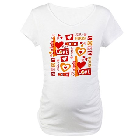 Love Talk Valentine Maternity T-Shirt