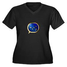 BlueCrush Gold - -.-; Women's Plus Size V-Neck Dar