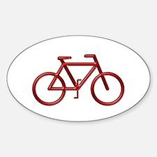 """Red Bike"" Oval Decal"
