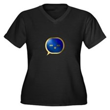 BlueCrush Gold - -.- Women's Plus Size V-Neck Dark