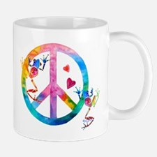 Tree Frogs 4 Peace Symbols Mug