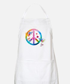 Tree Frogs 4 Peace Symbols Apron