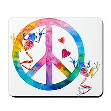 Tree Frogs 4 Peace Symbols Mousepad