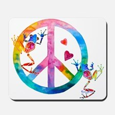 Tree Frogs 4 Peace Symbols Mousepad
