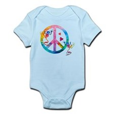 Tree Frogs 4 Peace Symbols Infant Bodysuit